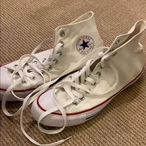 Converse all star white hi tops very clean